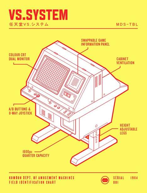 Vintage Game-Inspired Illustrations - Komboh Has Recreated Long Lost Arcade Gaming Stations