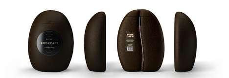 Literal Coffee Packaging - This Packaging Has a Coffee Bean Shape