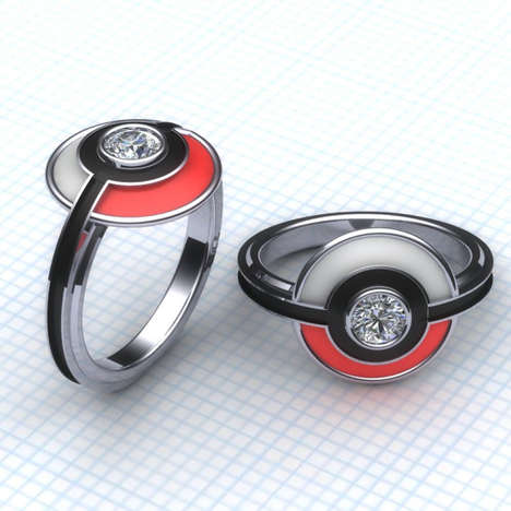 Anime Cartoon Engagement Rings - The Pokemon Anime Wedding Ring Will Capture a Spouse's Heart