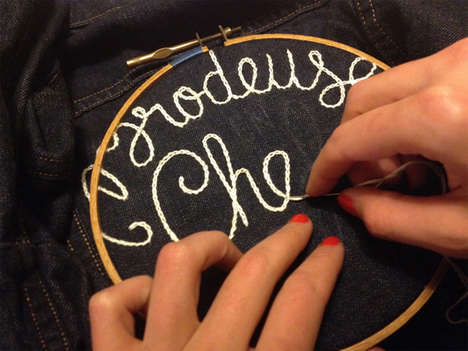 Custom Denim Embroidery Events - The Levi's x Clea Lala Collab Features Personal Embroidered Denim