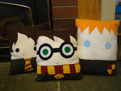 44 Pop Culture Pillows - From Chubby Sci-Fi Feline Cushions to Wicked Wizard Pillows