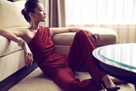 Quietly Elegant Editorials - The Prestige Hong Kong December 2013 Photoshoot Stars Du Juan