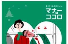 Vibrant Subway Etiquette Posters