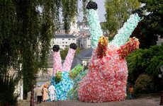 Stupendous Plastic Bag Structures - Florentijn Hofman Created Colossal Slugs with 40,000 Bags