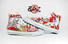 Artistic Custom Shoes - Wear Your Favorite Video Game Icons on Your Feet with These Video Game Shoes