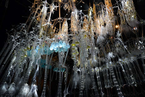 Epiphyte Chamber Installations - Beesley Creates Interactive Islands to Imitate Human Sensations