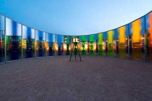 Eliasson Creates a Panoramic Rainbow Installation Using Silvered Glass
