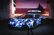 Icy Camo Car Wraps - Skier Jon Olsson's Arctic Camo Aventador is One Cool Lamborghini