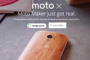 The Moto X Bamboo Wood Uses The Moto Maker