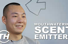 Mouthwatering Scent Emitters - Aki Talked About a Smartphone Attachment Called 'Nose Grilled M
