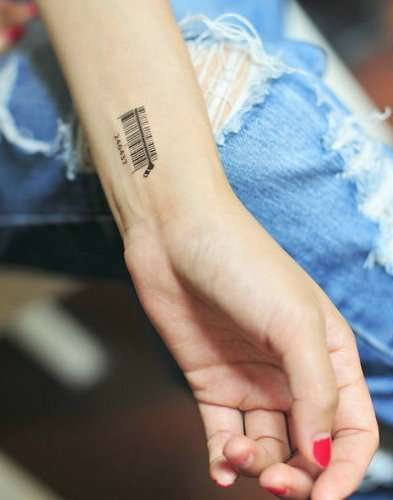 Anti-Establishment Scanner Tattoos - Rage Against the Machine with Your Temporary Barcode Tattoo