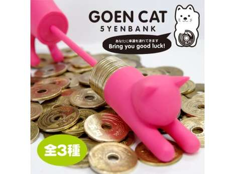 Feline Change Organizers - The Goen Cat Bank is the Purrfect Way to Organize Your Change