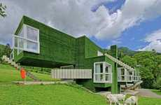 Spacious Grass-Covered Abodes
