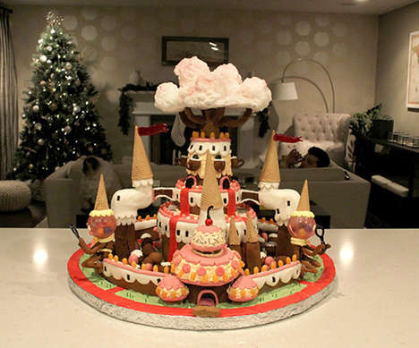 Cartoon Gingerbread Kingdoms - Adventure Time Fans Will Love This Gingerbread Candy Kingdom Replica