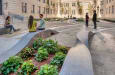 Twisted Public Seating - The Ribbons Bench was Designed by Cliff Garten Studio
