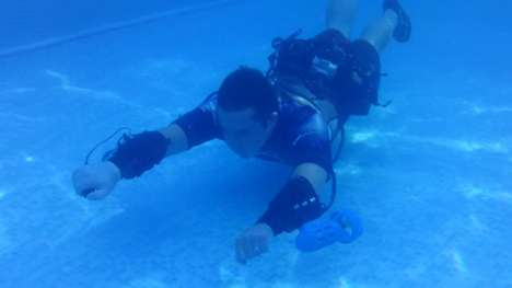 Swimming Rocket Cuffs - The x2 Underwater Jet Pack Turns Swimmers into Supermen