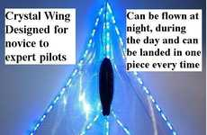 The Crystal Wing is a Wireless Simulated Aircraft