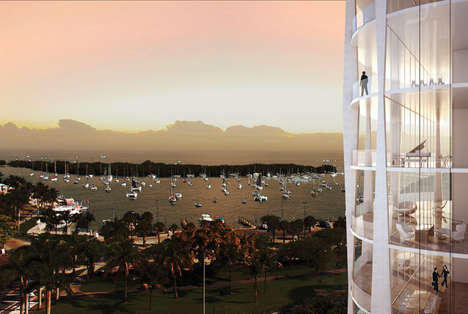Nature-Immersive Residential Towers - OMA Built Airily Slender Towers for Coconut Grove in Miami
