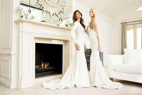 Glamorous Wedding Gown Ads - The Steven Khalil SS14 Bridal Campaign is Classic and Unconventional