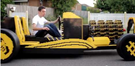 Eco-Friendly LEGO Vehicles - The Full-Size LEGO Car Runs on Air