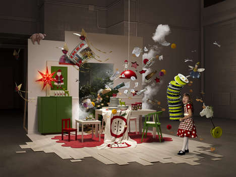 Festive Home Decor Exhibitions - This Christmas IKEA Display Shows an Exciting Frozen Moment