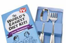 Useless Utensil Sets - The World's Easiest Diet Kit Utensil Set Makes It Impossible to Eat