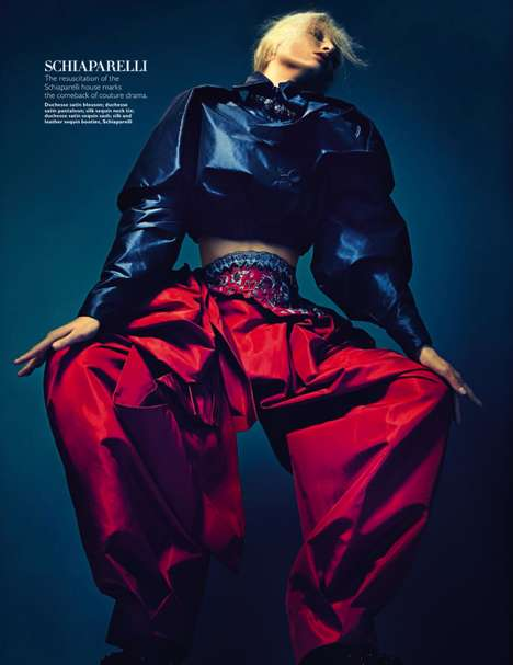 Theatrical Couture Closet Editorials - Harper's Bazaar Singapore December 2013 Boasts Unique L
