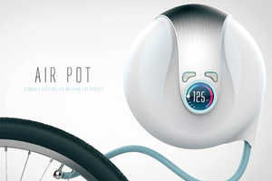 The Air Pot Blows Up Your Wheels With the Simple Press of a Button