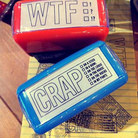 Insulting Self-Inking Stamps  - Make Work More Fun with These Funny Stamps