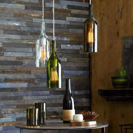 Repurposed Alcohol Bottle Lamps - Brighten Up Any Home with These Claret Wine Bottle Pendant Lamps