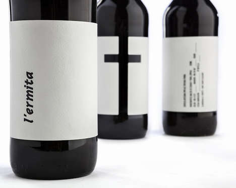 Cruciform Beverage Branding - L'Ermita Beer Packaging Reduces Romanesque Symbolism to the Cross