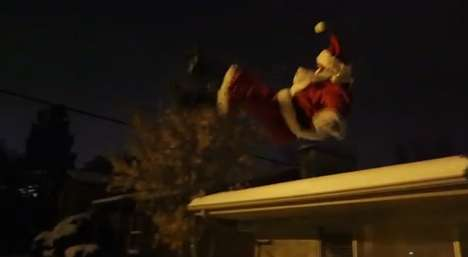 Santa Street Stunt Videos - This Christmas Parkour Video Explains How Santa Gets Around