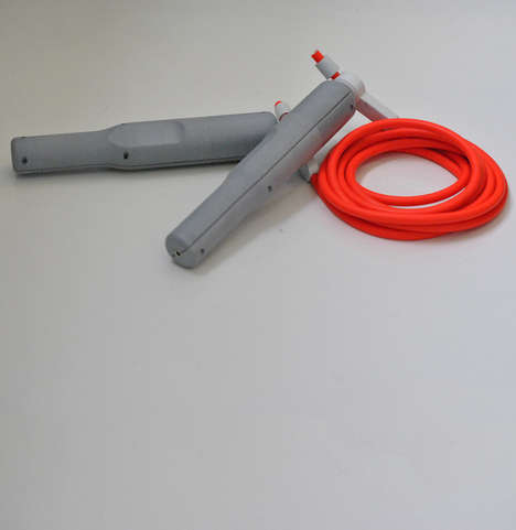 Phone-Charging Exercise Ropes - The PULSE Jump Rope Powers Electronics with Play