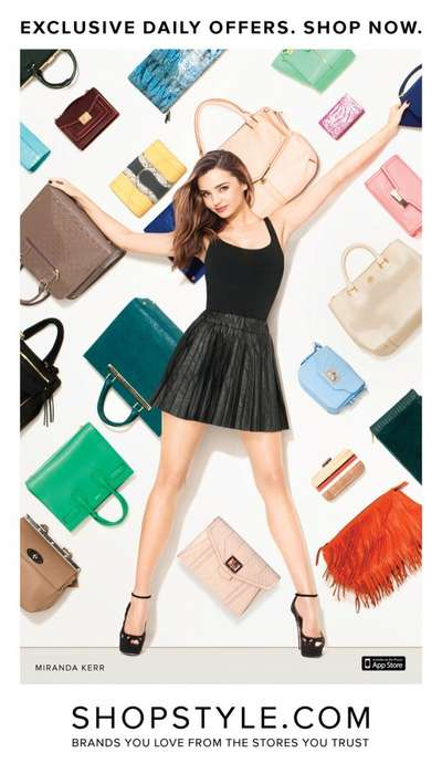 Wall-Mounted Purse Ads - The Terry Richardson-Shot ShopStyle 2013 Campaign Stars Miranda Kerr