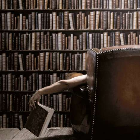 Bookish Wall Covers - This Book Wallpaper is Perfect for the Reader With More Books Than Space