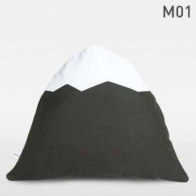 Ice-Capped Cushions - The Heroubreio Mountain Pillows are Comfortably Picturesque