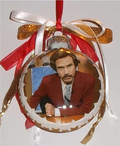 Famous Reporter Christmas Ornaments - These Ron Burgundy Products are Festively Obsure