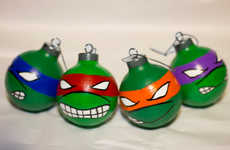 These Ninja Turtle Christmas Ornaments are Reto and Fun