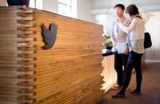 Woodsy Social Media Workspaces - The Twitter San Francisco Offices Mix Natural Elements with Tech