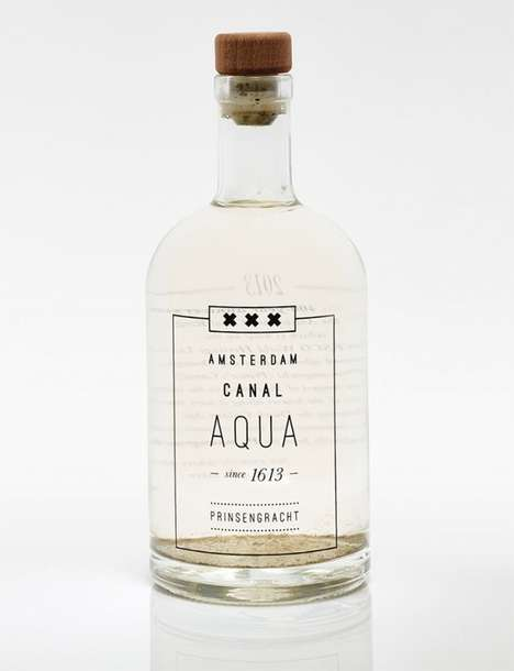 Undrinkable Art Water - Bottled Amsterdam Canal Water Commemorates 400 Years of the City