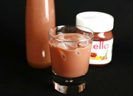 Hazelnut Chocolate Cocktails - Nutella Cream Liquor is a Great Holiday Alcoholic Beverage