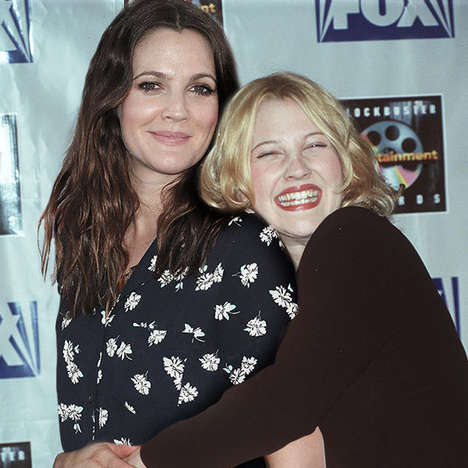 Past-Present Celeb Photos - The Celebrities Posing with Younger Selves Series is Trippy