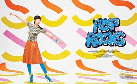 Pop Art-Inspired Editorials - The Foam Magazine January-February 2014 Photoshoot Stars Chloe B