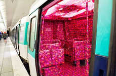 Gift-Wrapped Subways - The Sisaprod Ligne 8 Installation Decks the Paris Metro for Christmas
