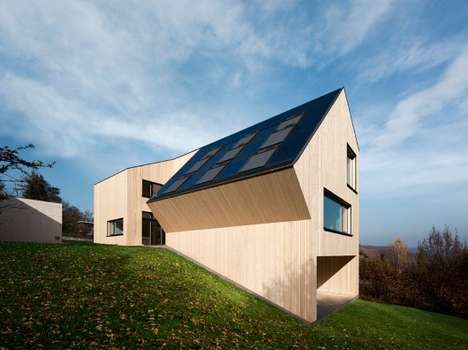 Abstractly Roofed Abodes - The Sunlighthouse Was Made Asymmetrically to Maximize its Eco Efficiency