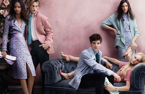 All-British Fashion Ads (Update) - The Burberry Spring Campaign Stars Musicians, Actors and Models
