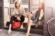 Luminously Chic Fashion Ads - The Coach SS14 Campaign Stars Liu Wen and Karlie Kloss
