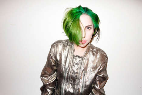 Green-Tressed Songstress Shoots - This Lady Gaga x Terry Richardson Shoot Has a Green-Haired Gaga