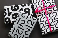Numerically Enveloped Presents - Typography Wrapping Paper is for all 12 Days of Christmas