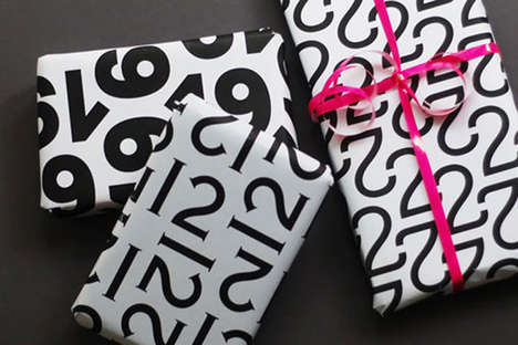 Typography Wrapping Paper